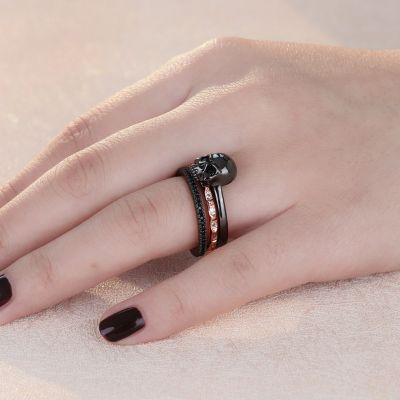 Bicolor Stackable Skull Ring