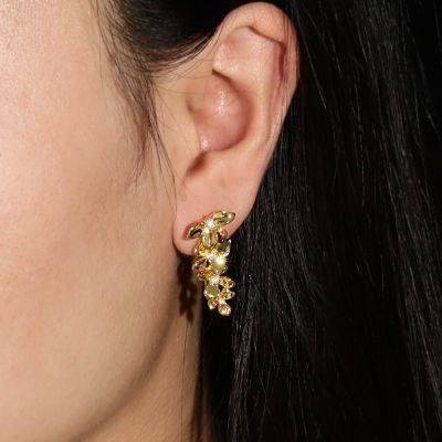 Golden Butterfly Climbers Earrings