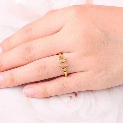 Moon Open Ring