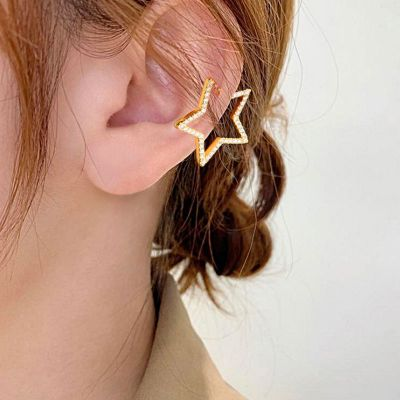 Star Hoop Ear Cuffs