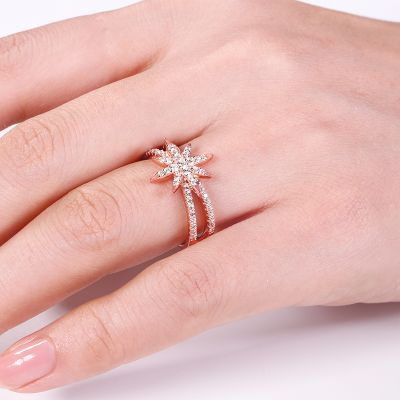 Eight-pointed Star Ring