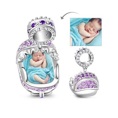 Baby Cradle Photo Charm