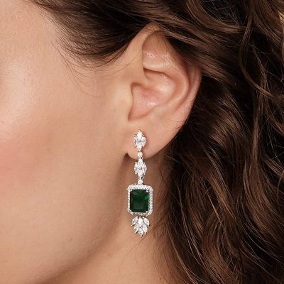 Green Sapphire Gemstone Dangle