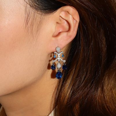 Ocean Color Dangle Earrings