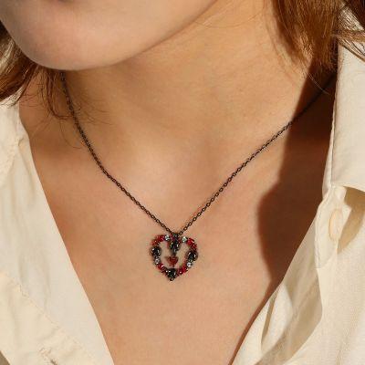 Rose & Skull Necklace