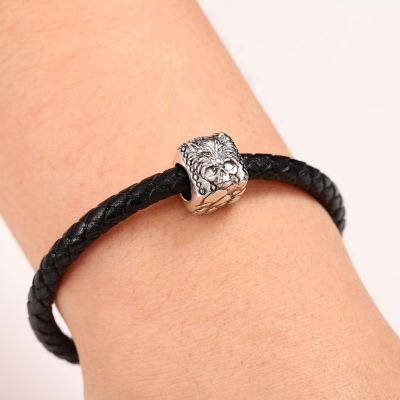 Wolf Skull Charm Bracelet