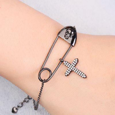 Skull Paperclip Bracelet