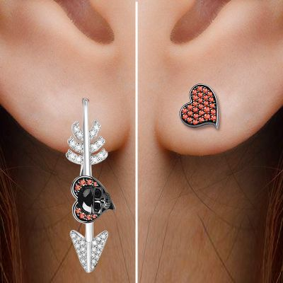 Skull Arrow Earring