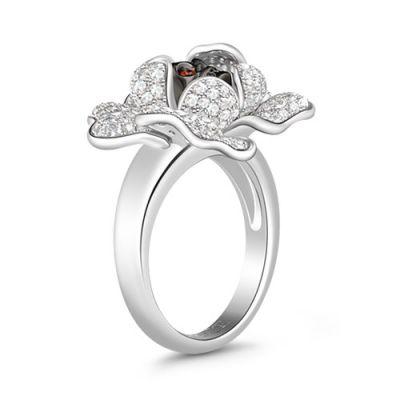 White Flower Stones Ring