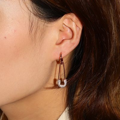 Paperclip Hoop Earrings