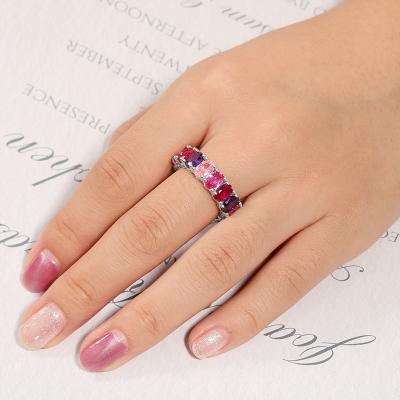 Fuchsia Gradient Band Ring