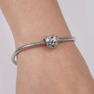 Four Leaf Clover Charm Bead Sterling Silver