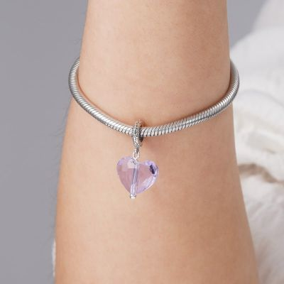 Purple Crystal Heart Pendant