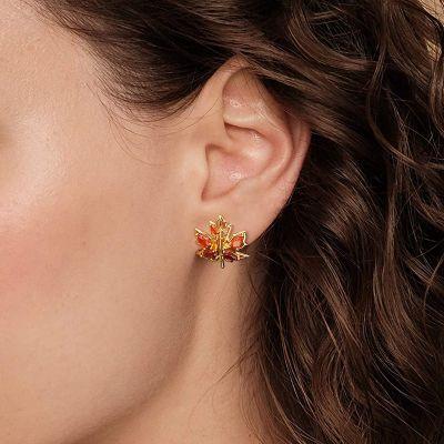 Maple Leaf Stud Earrings