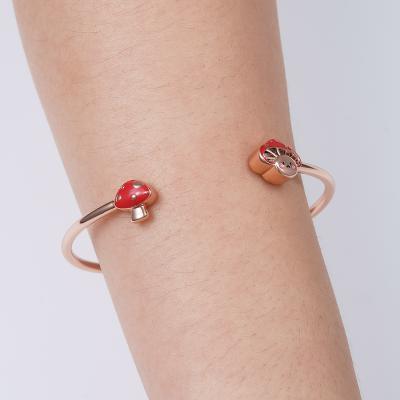 Mushroom Baby Bangle Bracelet