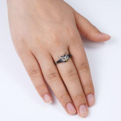 Black Owl Ring
