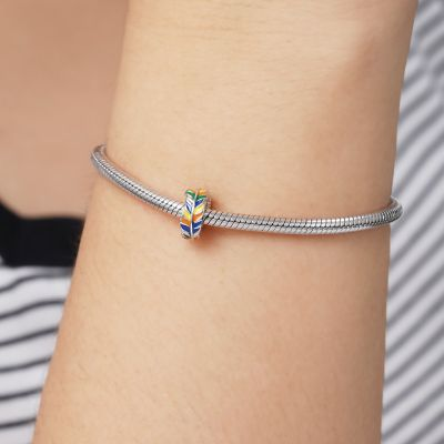 Colorful Feathers Charm