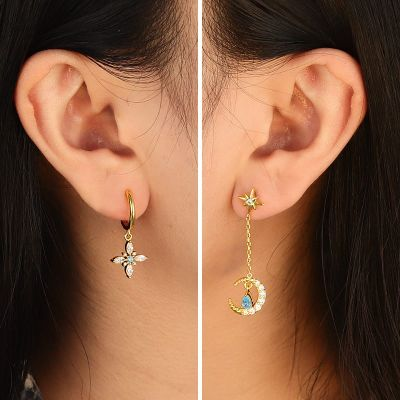 Artemis Moon Dangled Earrings