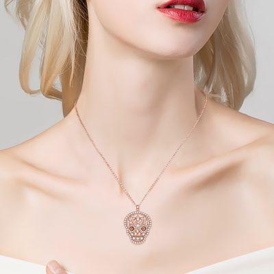 Rose Gold Skull Necklace