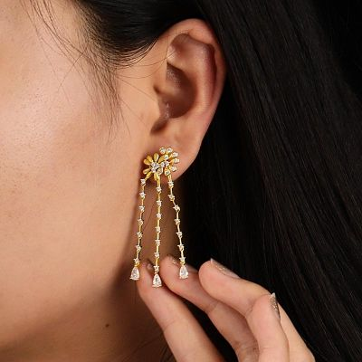 Daisy Tassels Dangle Earrings