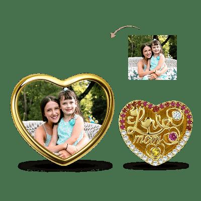 Love Mom Photo Charm