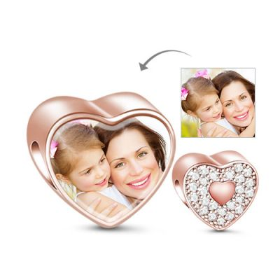 Sparkling Heart Photo Charm