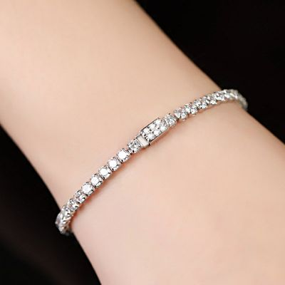 Chic Buckle Tennis Bracelet
