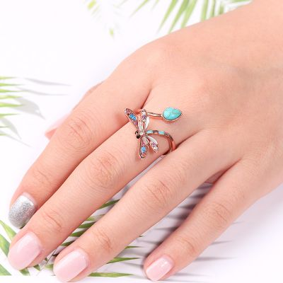 Turquoise Dragonfly Ring