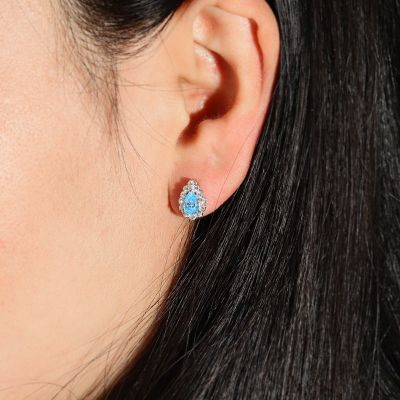 Blue Diamond Studs