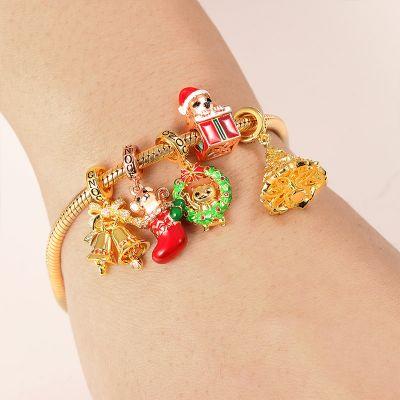 Merry Christmas Charm Bracelet