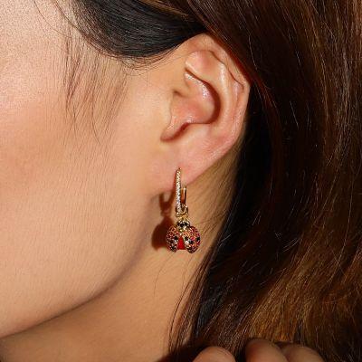 Ladybirds Hoop Earrings