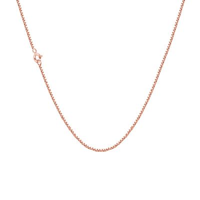 Rose Gold Plated Brass Box Chain