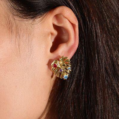 Palm Leaves Stud Earrings
