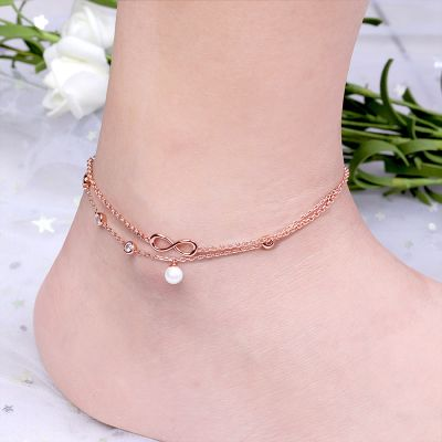 Pearl Infinity Anklet