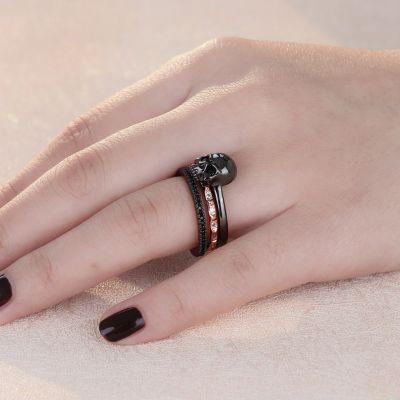 Bicolor Stackable Skull Ring
