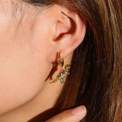 Dinosaur Hoop Earrings