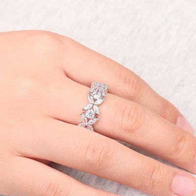 White Flower Promising Ring
