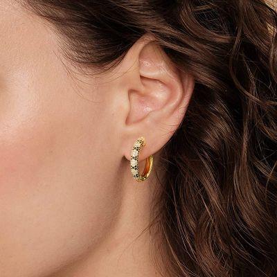Snakeskin Hoop Earrings