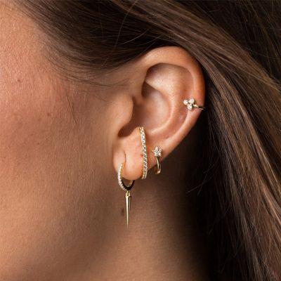 Row Stud Earrings