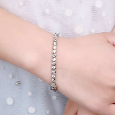 Line Tennis Bracelet