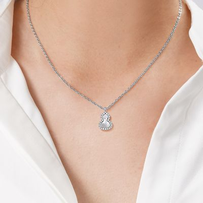 Mother of Pearl Gourd Necklace