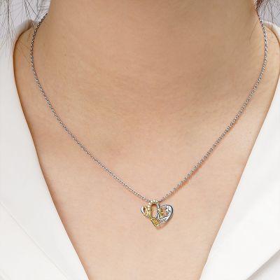 Mom Hugs Baby Necklace