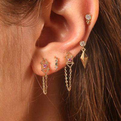 5-piece Stud Earrings Set
