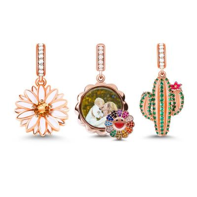 Flower Photo Charm Set