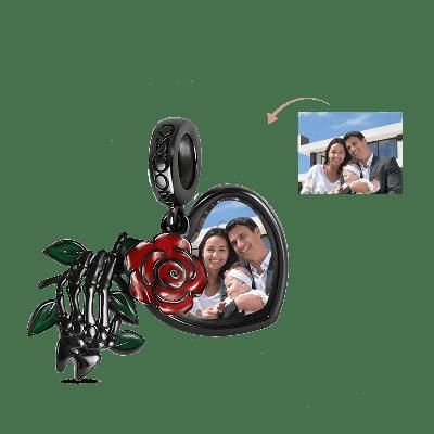 Rose Photo Charm