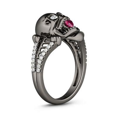 Rose Quartz Skeleton Ring