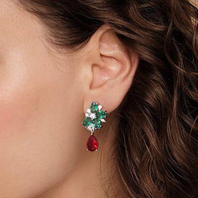Fruit Diamond Dangle Earrings