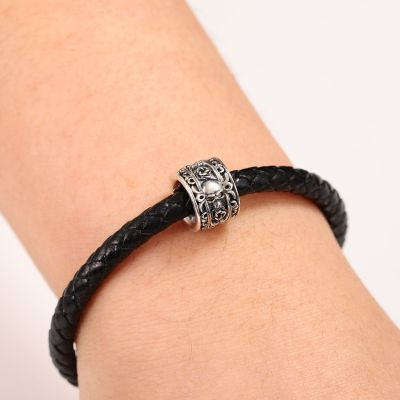 Skull & Rose Charm Bracelet