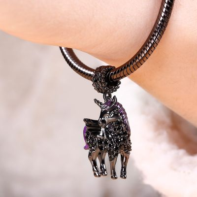 Black Unicorn Pendant