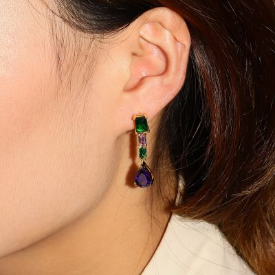 Nature Dark Blue Dangle Earrings